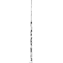 HF Vertical Antenna,  10/12/15/17/20/30/40/80 meters,  w/ 1500W PEP, 25 foot