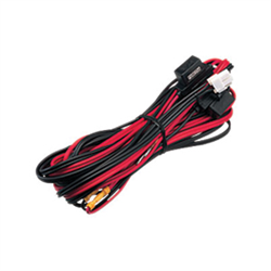 DC power cord 22.9 feet (7m). Has dual 25 amp inline fuses.