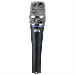 Professional quality dynamic microphone, 50 - 18,000 Hz, cardioid pattern, leath...