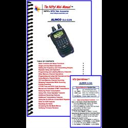 Alinco DJ-G29T mini-manual & card combo