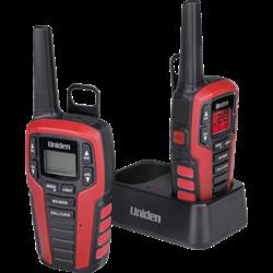 Uniden GMRS/FRS Radios, VOX, emergency strobe light, weather alert, 10 call tones.