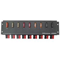 DC power panel, 8 outlets, 40 amps, Horizontal Configuration