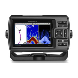 5-inch CHIRP Fishfinder with GPS and DownVü Scanning Sonar
