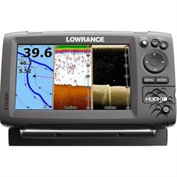 Lowrance HOOK-7 NAV+ fishfinder/chartplotter Bundle, Mid/Hi/DownScan - 000-12664-004