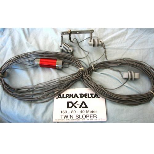 160-80-40 Meter 1/4-wave Twin Sloper