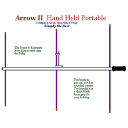 Arrow Antennas 146-3BP Arrow II Hand Held Portable with split boom