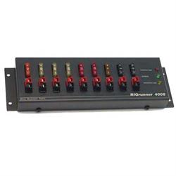"DC power bar, 8 outlets, 40 amps, dimensions: 9"" x 3"" x 1.4"""
