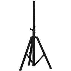 Portable steel antenna stand, black.