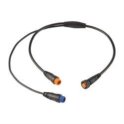 Connect a Garmin GT30 transom mount scanning transducer and a Garmin GT8HW-IH, GT15M-IH