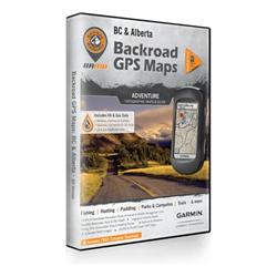 ALBERTA AND B.C.  SD, BACKROAD GPS MAPS 1:20,000 (BC), 1:50,000 (AB) FOR GARMIN