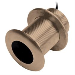 Bronze thru-hull mount transducer, 8-pin 500 W transducer has a depth of 900 ft,...