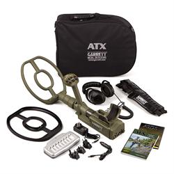 "Garrett ATX Metal Detector with 12"" DD coil, Adjustable Threshold, All-Metal Mod..."