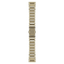 Personalize your compatible Garmin wearable with a Garmin QuickFit 20 Stainless Steel Watch Band in champagne