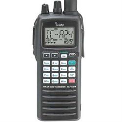 Compact aircraft handheld (NAV & COM channels), 5 watts. 200 memory channels, em...