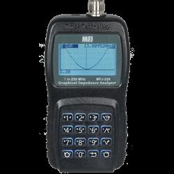 The MFJ-226 VNA antenna analyzer covers 1 to 230 MHz with 1Hz resolution