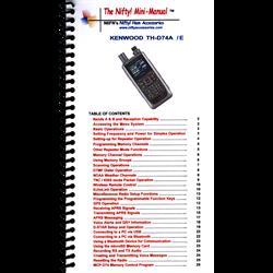 Compact TH-74A / TH-74E Mini-Manual operating guide