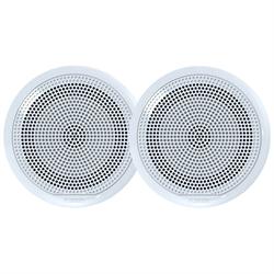 EL Series Full Range Shallow Mount Marine White Speakers