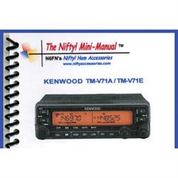 Mini Manual for Kenwood TM-V71A