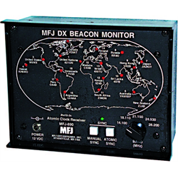 MFJs new DX Beacon Monitor lets you instantly see which beacon youre hearing on your transceiver