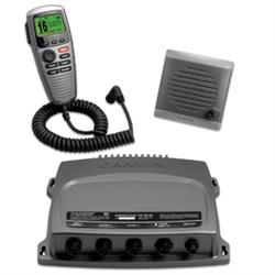 The Garmin VHF 300 AIS marine receiver combines radio communication, multi-stati...