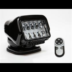 30514, SEARCHLIGHT, STRYKER LED 12V, BLACK, PERMANENT BASE W/HANDHELD REMOTE