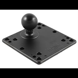 """RAM-246U RAM 4.75"""" Square Base with VESA (4 X 75mm) (4 X 100mm) Hole Patterns & 1.5"""" Ball"""