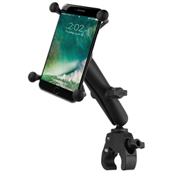 RAM Small Tough-Claw™ Base with Long Double Socket Arm and Universal X-Grip® Large Phone/Phablet Cradle