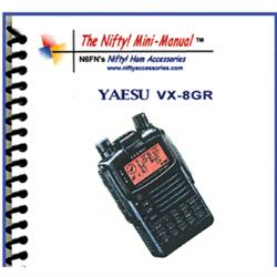 Instruction manual for the yaesu vx-8gr.