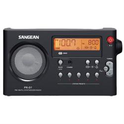 FM / AM Digital Tuning Portable Receiver  - IN BLACK