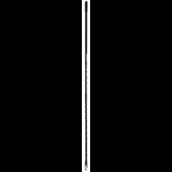 "JBCF40048, 48"" BLACK FLEXIBLE FIBERGLASS CB ANTENNA, 3/8-24 THREAD"