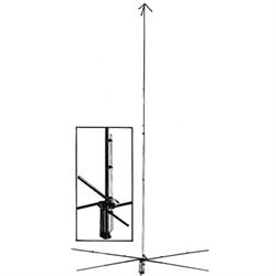 1.5 KW, 5/8 Wave 10 / 11 / 12 Metre vertical antenna