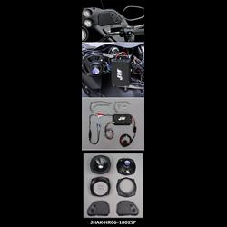 J&M Perf Series Audio KIT 180w RMS 2-Spkrs 06-13 Harley RoadGlide - JHAK-HR06-1802SP