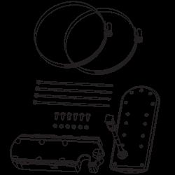 MEGA SI, MEGA DI, DualBeam PLUS, 20/60/86/55 degrees, 200/83/455/800 kHz and 1.2 MHz, temperature built-in trolling motor transducer